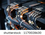 network cables connected in... | Shutterstock . vector #1170028630