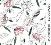 blossom floral seamless pattern.... | Shutterstock .eps vector #1170029290