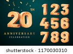 wooden numbers and greetings... | Shutterstock .eps vector #1170030310