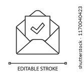 email confirmation linear icon. ... | Shutterstock .eps vector #1170040423