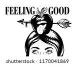 feeling good. vector hand drawn ...   Shutterstock .eps vector #1170041869