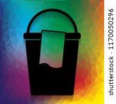 bucket and a rag sign. vector.... | Shutterstock .eps vector #1170050296
