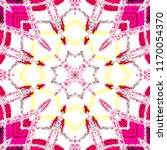 colorful kaleidoscopic pattern... | Shutterstock . vector #1170054370