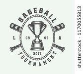 vintage baseball sport logo ... | Shutterstock .eps vector #1170055813