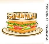 vector poster for sandwich ... | Shutterstock .eps vector #1170062569