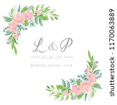 floral wedding invitation ... | Shutterstock . vector #1170063889