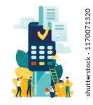 vector illustration  financial... | Shutterstock .eps vector #1170071320