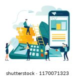 vector illustration  financial... | Shutterstock .eps vector #1170071323