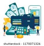 vector illustration  financial... | Shutterstock .eps vector #1170071326