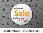 halloween sale banner. vector... | Shutterstock .eps vector #1170081700