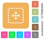 drag object flat icons on... | Shutterstock .eps vector #1170082606