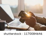 photographer working with... | Shutterstock . vector #1170084646