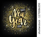 hand sketched new year text on... | Shutterstock .eps vector #1170086350