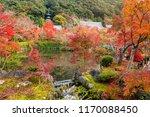 autumn foliage garden and pond... | Shutterstock . vector #1170088450