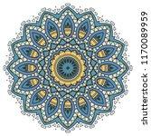 mandala flower decoration  hand ... | Shutterstock .eps vector #1170089959