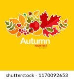 autumn background with leaves | Shutterstock .eps vector #1170092653