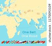 """one belt one road"" new silk... | Shutterstock .eps vector #1170093109"