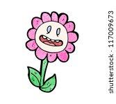 retro cartoon flower | Shutterstock .eps vector #117009673