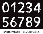 set of grunge numbers.vector... | Shutterstock .eps vector #1170097816