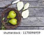Pears In A Plate And Slices Of...