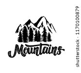 hand draw wilderness typography ... | Shutterstock . vector #1170100879