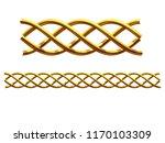 golden  ornamental segment  ... | Shutterstock . vector #1170103309
