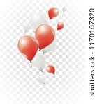 red and white helium balloons... | Shutterstock .eps vector #1170107320