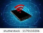 3d rendering transmitter mobile ... | Shutterstock . vector #1170110206