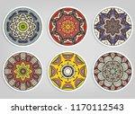 decorative round ornaments set  ... | Shutterstock .eps vector #1170112543