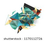 triangular design abstract... | Shutterstock .eps vector #1170112726