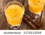 fresh homemade pumpkin mousse... | Shutterstock . vector #1170113539