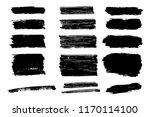 vector set of hand drawn brush... | Shutterstock .eps vector #1170114100