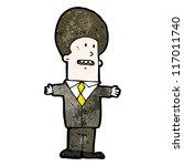 cartoon businessman | Shutterstock .eps vector #117011740
