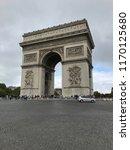 the arc de triomphe de l' toile ...   Shutterstock . vector #1170125680