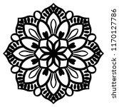 outline mandala. ornamental... | Shutterstock .eps vector #1170127786