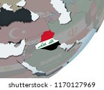 iraq on political globe with... | Shutterstock . vector #1170127969