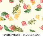 tropical background. green ... | Shutterstock .eps vector #1170134620