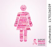 breast cancer awareness month... | Shutterstock .eps vector #1170136039