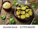 parmesan roasted brussel... | Shutterstock . vector #1170136630