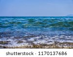 soft wave splashing on sea or... | Shutterstock . vector #1170137686