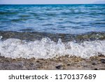 soft wave splashing on sea or... | Shutterstock . vector #1170137689