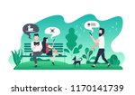 modern flat illustration with... | Shutterstock .eps vector #1170141739