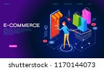 the sale and consumer concept.... | Shutterstock .eps vector #1170144073