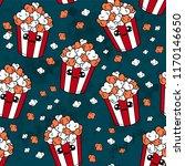cute kids pop corn pattern for... | Shutterstock .eps vector #1170146650