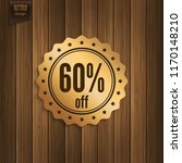 sixty percent offer. discount... | Shutterstock .eps vector #1170148210