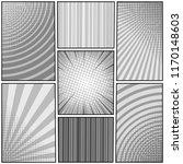 comic book monochrome template... | Shutterstock .eps vector #1170148603