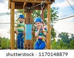 happy children having fun in... | Shutterstock . vector #1170148879