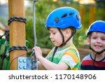 happy children having fun in... | Shutterstock . vector #1170148906