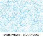 blue soap foam bubbles vector...   Shutterstock .eps vector #1170149059