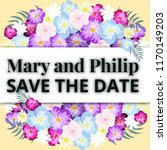 save the date  floral wedding...   Shutterstock .eps vector #1170149203